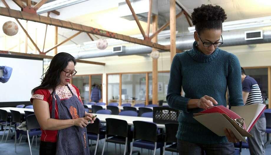 Sita Bhaumik and Jocelyn Jackson Photo: Manjula Varghese / The Chronicle