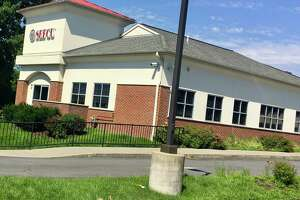 Larry Rulison / Times Union The Wolf Road SEFCU branch that the Albany-based credit union says was targeted by a skimming device that reads ATM cards.