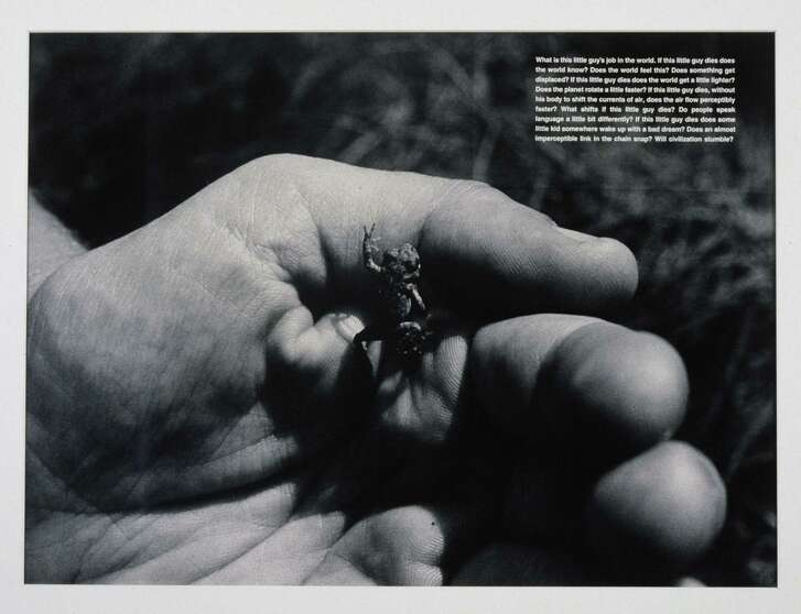 """What Is This Little Guy's Job in the World"" by David Wojnarowicz is also in the show."