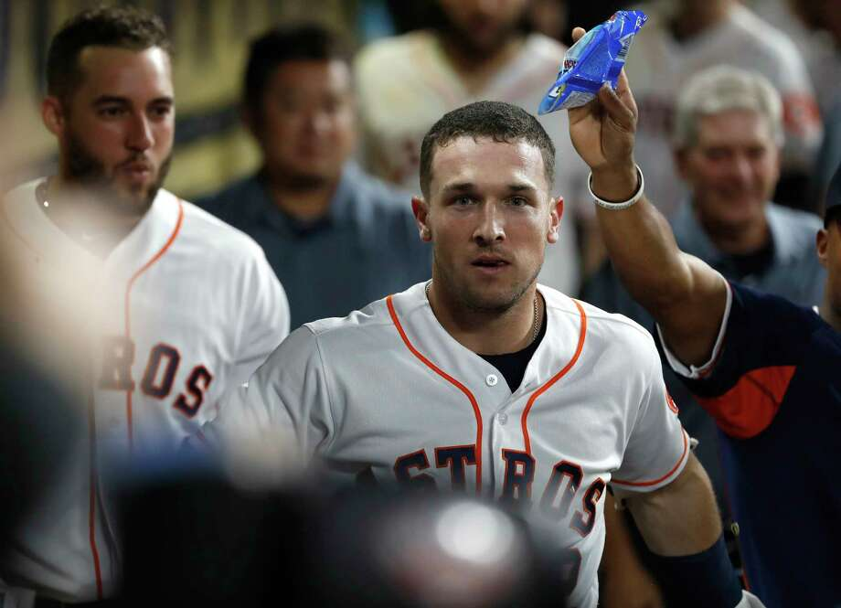 PHOTOS: All the freebies for fans on the Astros schedule this season The Astros have made a bobblehead to commemorate Alex Bregman's dugout stare. The bobblehead will be given out to the first 10,000 fans at Friday night's game at Minute Maid Park. Browse through the photos above for a look at all the Astros' giveaways for fans on this season's schedule ... Photo: Karen Warren, Houston Chronicle / © 2018 Houston Chronicle
