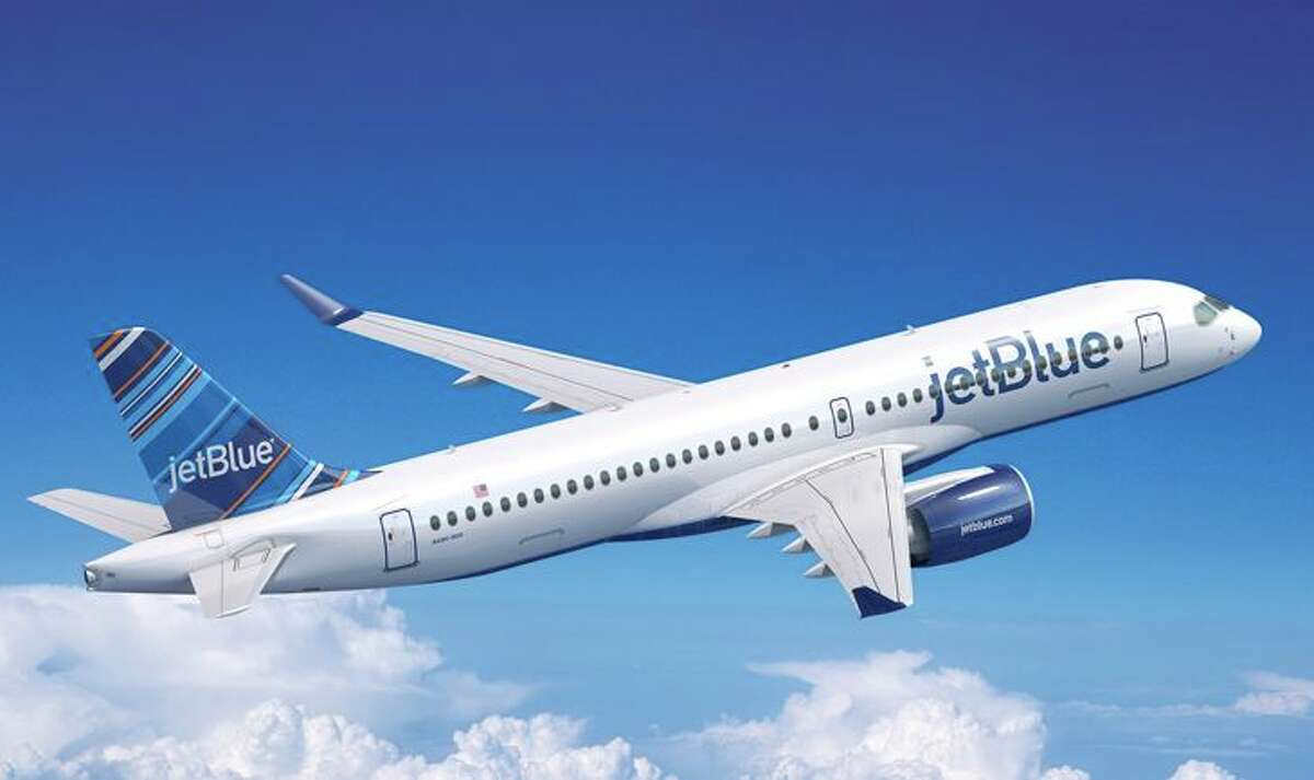 JetBlue's newest plane - the A220-300. (Image: JetBlue)