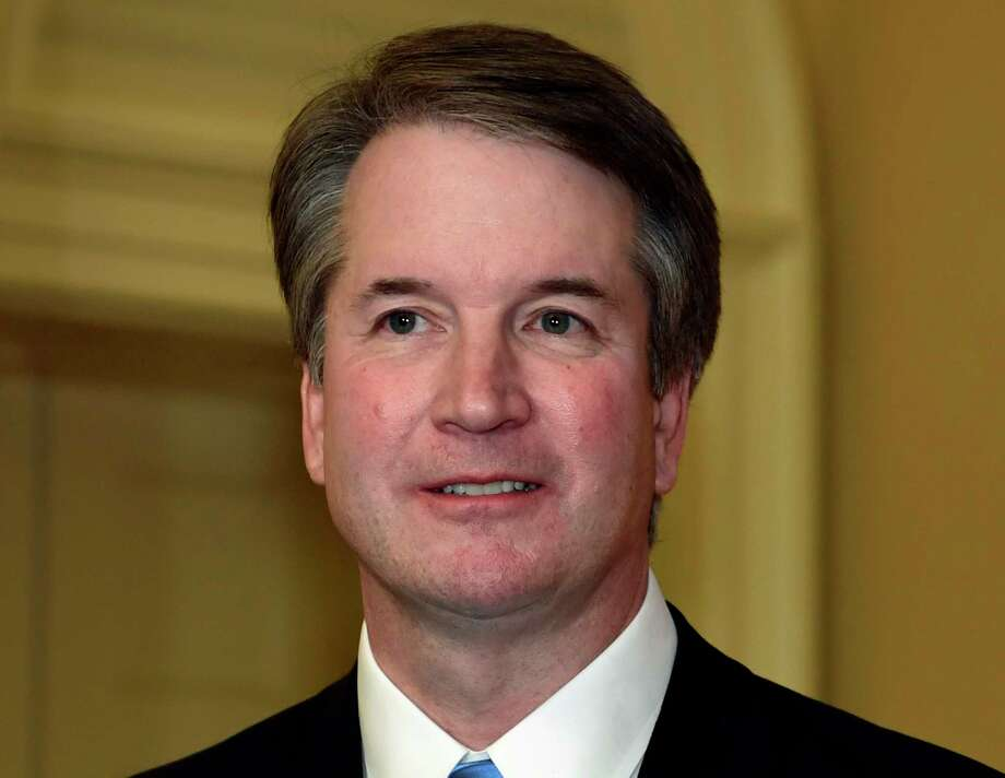 Supreme Court nominee Brett Kavanaugh, is shown during a visit to the office of Senate Majority Leader Mitch McConnell of Ky., on Capitol Hill in Washington, Tuesday, July 10, 2018. Kavanaugh is on Capitol Hill to meet with Republican leaders as the battle begins over his nomination to the Supreme Court. (AP Photo/Susan Walsh) Photo: Susan Walsh / Copyright 2018 The Associated Press. All rights reserved.