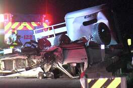 The two vehicles involved, an SUV and a pickup truck carrying a livestock trailer, smashed into each other around 11:45 p.m. July 10, 2018, near Loop 1604 and Trumbo Road.