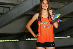 Edwardsville's Abby Korak is the 2017 Telegraph Girls Cross Country Runner of the Year after leading the Tigers to Southwestern Conference and Class 3A regional championships while placing first in both races as a sophomore.