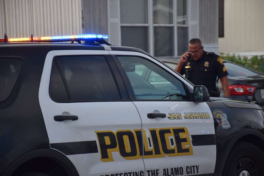 Police responded to a shooting at about 8 a.m. at a mobile home park in the 7100 block of West Loop 1604 North. Photo: Caleb Downs / San Antonio Express-News