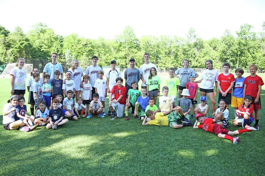 The campers at St. Luke's pose after the sports camp June session. Photo: Contributed Photo / New Canaan News contributed