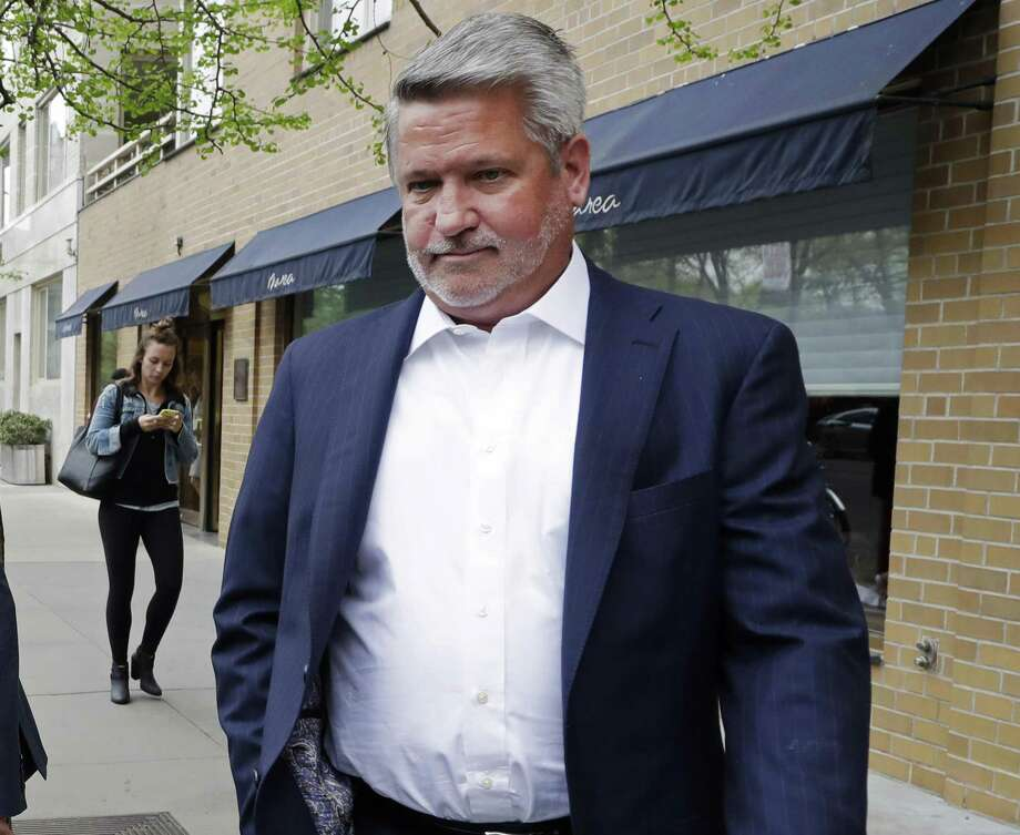 In this April 24, 2017, then-Fox News co-president Bill Shine leaves a New York restaurant. President Donald Trump is expected to name Shine as director of White House press and communications. Photo: Mark Lennihan / Associated Press / Copyright 2017 The Associated Press. All rights reserved.