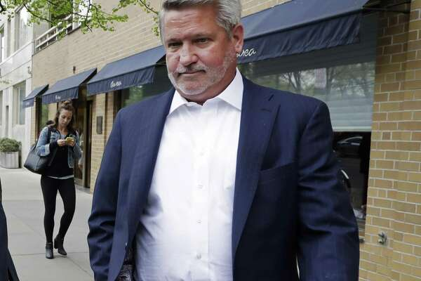 In this April 24, 2017, then-Fox News co-president Bill Shine leaves a New York restaurant. President Donald Trump is expected to name Shine as director of White House press and communications.