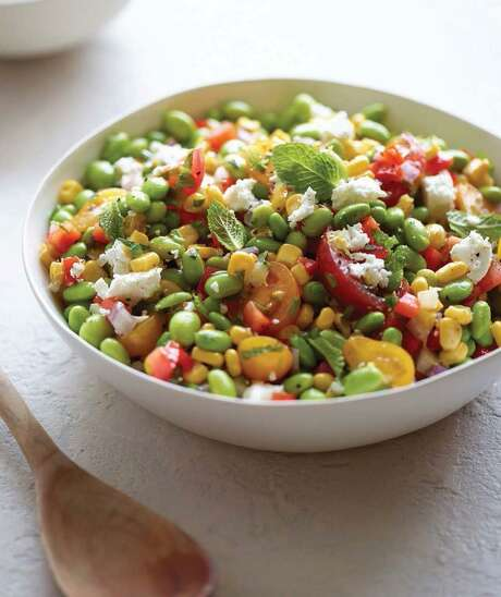 "Edamame Succotash Salad from ""Food for Life"" by Laila Ali. Photo: Matt Armendariz /St. Martin's Press"