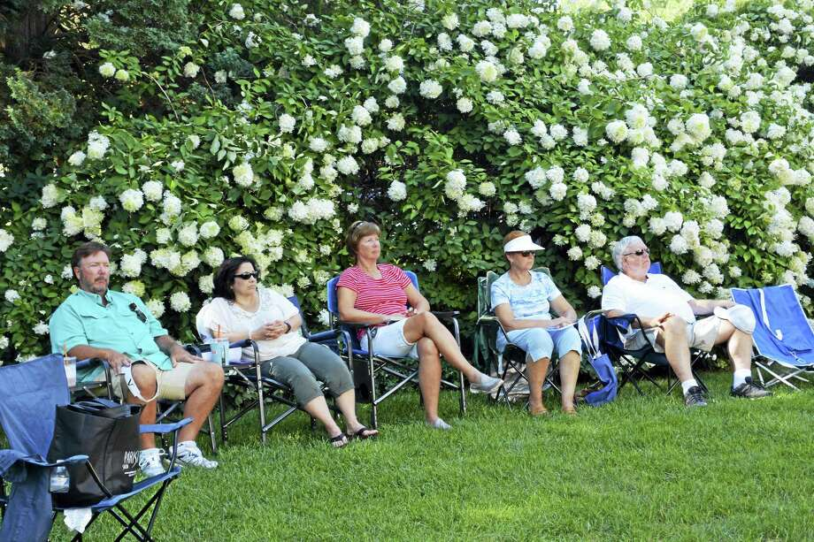 Residents enjoy a live concert at the Wadsworth Mansion in MIddletown. Summer concerts continue on July 18, July 25 and Aug 1. Photo: File Photo