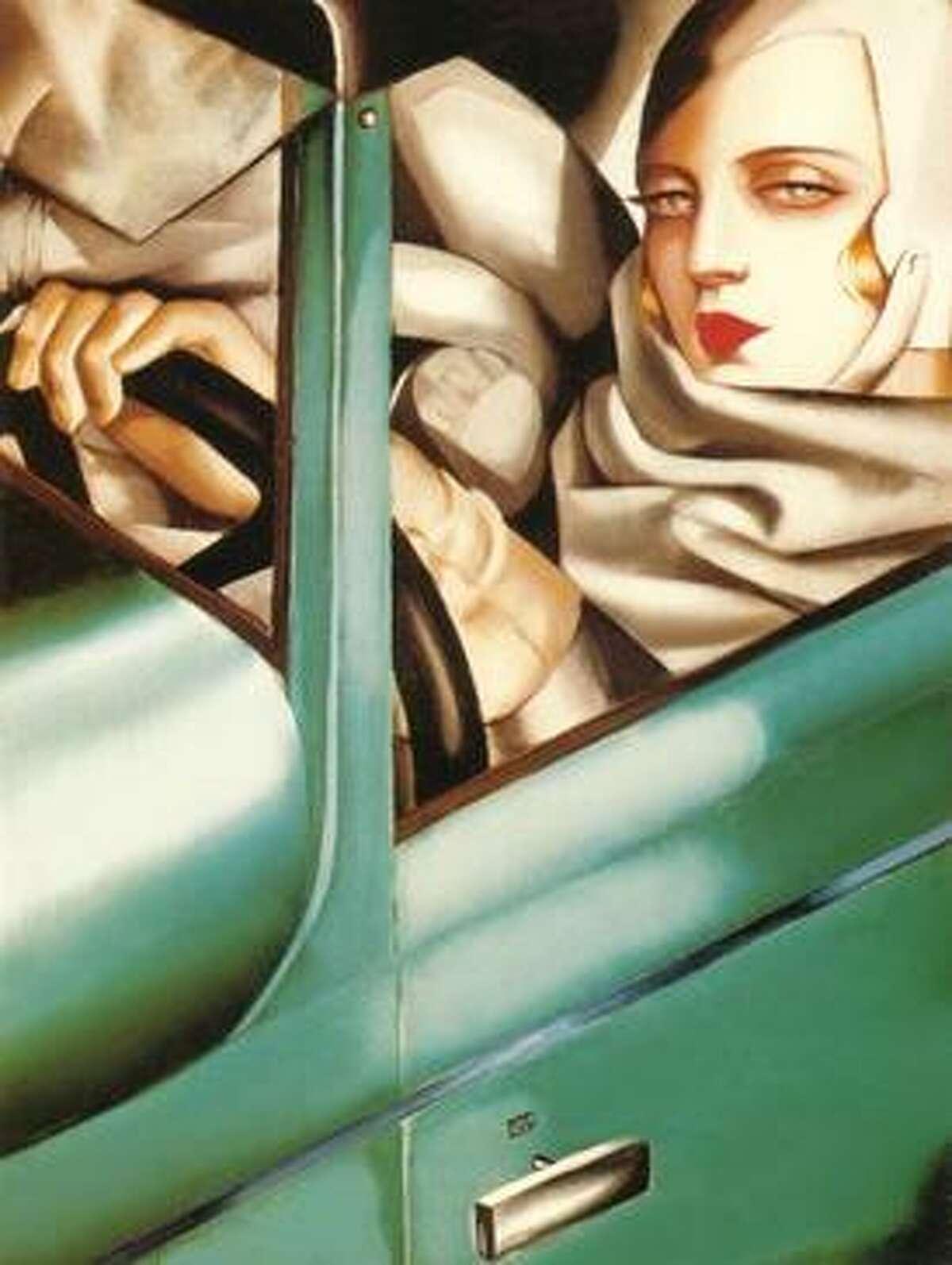 """""""Autoportrait (Self-Portrait in a Green Bugatti)"""" Tamara Lempicka"""