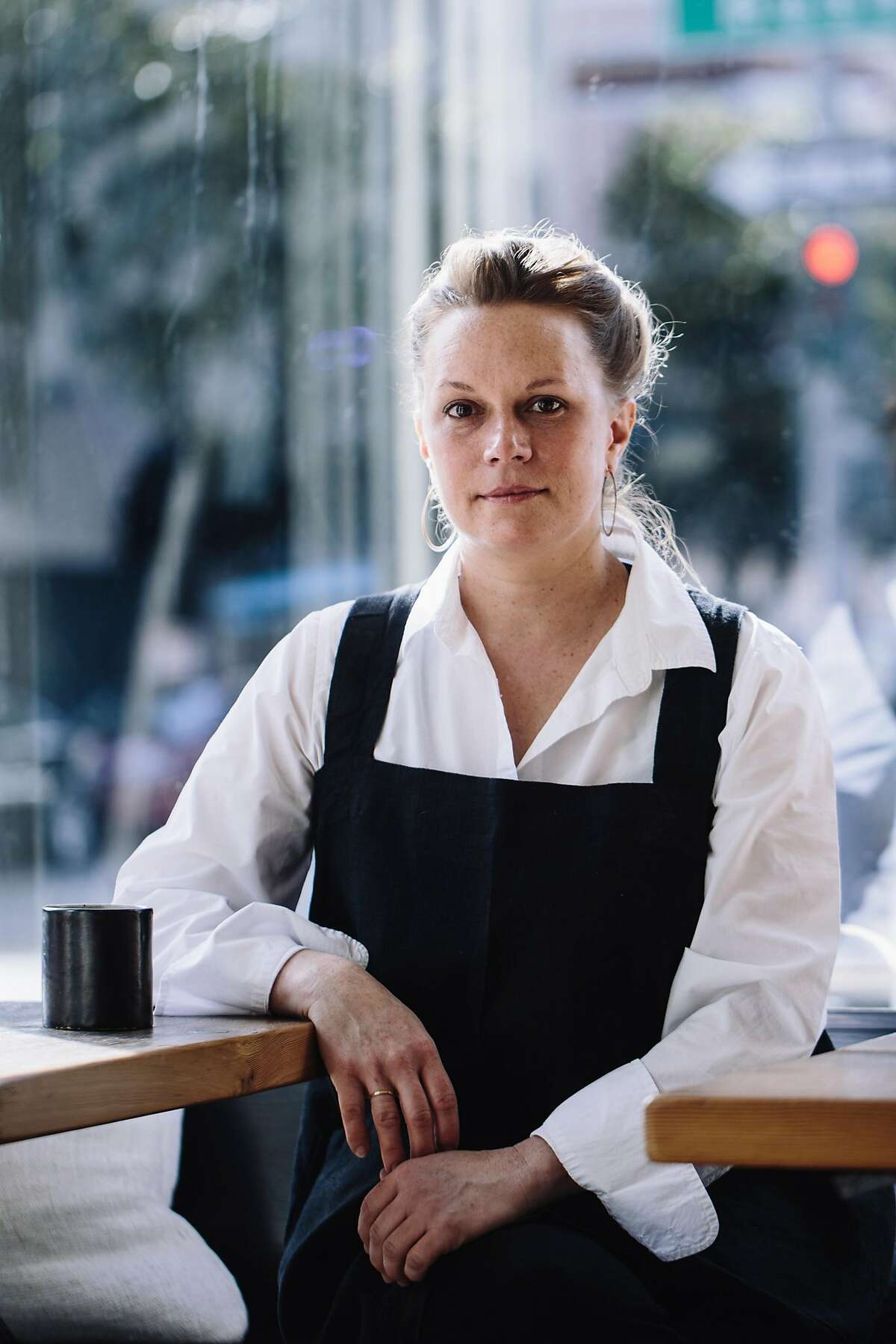 Chef Melissa Perello of Octavia poses for a portrait in San Francisco, Calif. on Friday, March 16, 2018.