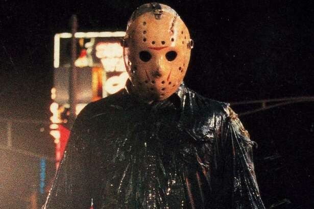 "Jason Voorhees, the hockey-masked villain of the ""Friday the 13th"" horror movies."