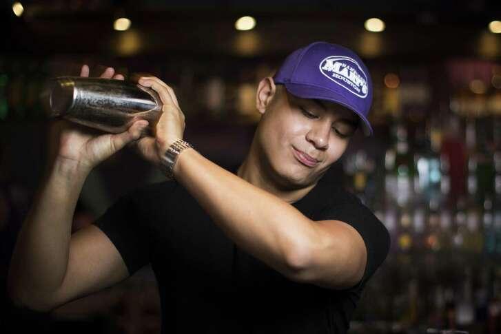 Bartender Nathan Reyes at Hamburger Mary's.