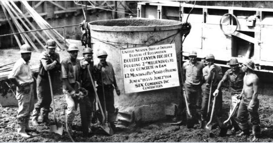This photo from the 1930s shows an entire crew wearing hard hats, a marked change from the work environment just years earlier. Photo:       For The Intelligencer