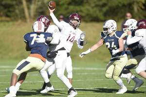 St. Luke's quarterback Michael Hage throws a pass last season.
