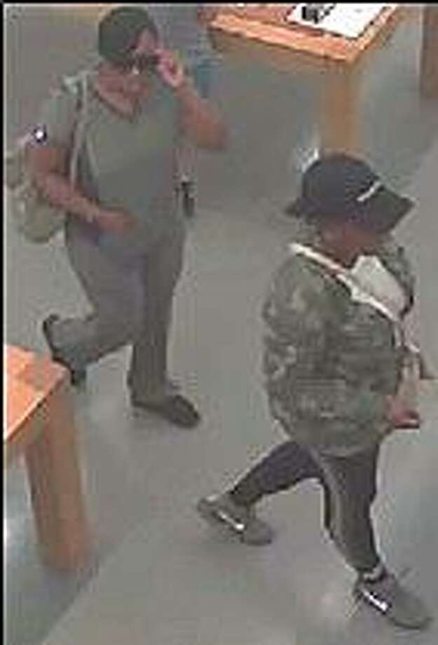 Stratford police are asking the public's help to help identify these two women who are suspected of stealing a wallet from a Stratford dentist's office. Police said the women used credit cards in the wallet to go on a $7,000 spending spree. Photo: Stratford Police Department