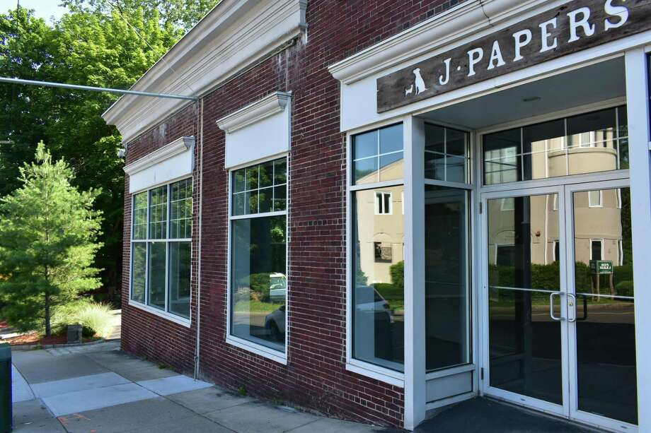 The former home of J Papers on Bruce Park Avenue in Greenwich, Conn., with a quartet of investors planning to open a wine store at the site. Photo: Alexander Soule / Hearst Connecticut Media / Stamford Advocate