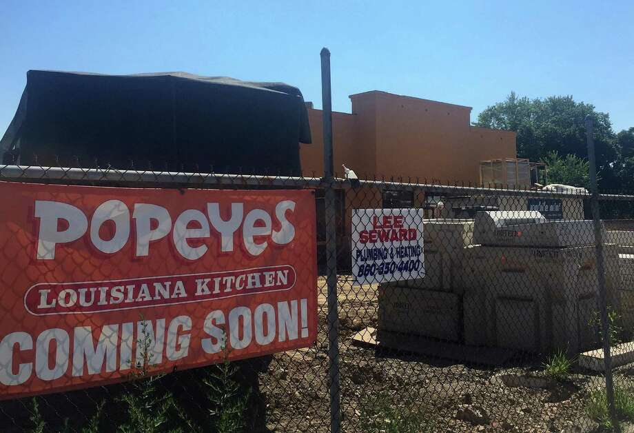 A Popeyes Louisiana Kitchen is under construction at 448 W. Main St., on the west side of Stamford, Conn. Photo: Paul Schott
