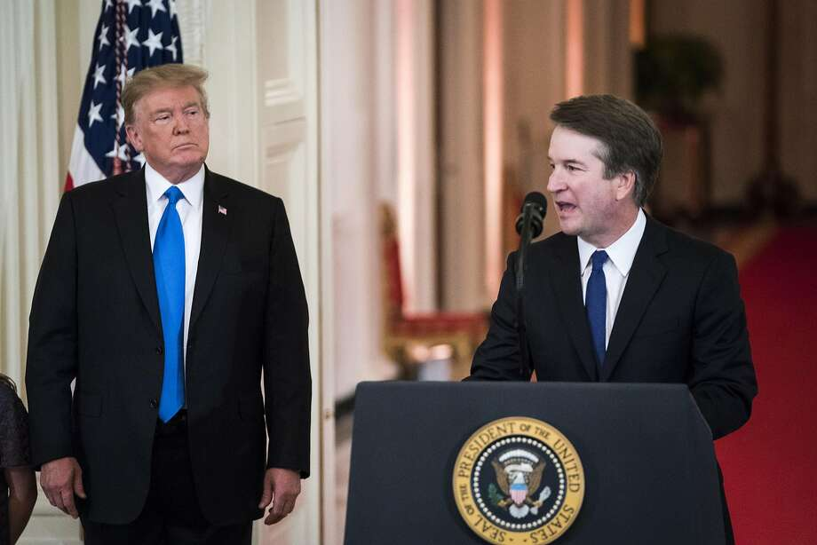 Federal judge Brett M. Kavanaugh, President Trump's nominee for Supreme Court justice, at the White House on July 9. Photo: Jabin Botsford, The Washington Post
