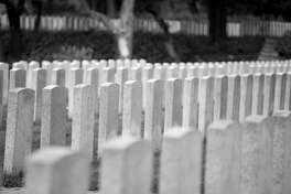 A divorcee has questions about his burial plot in a military ceremony.