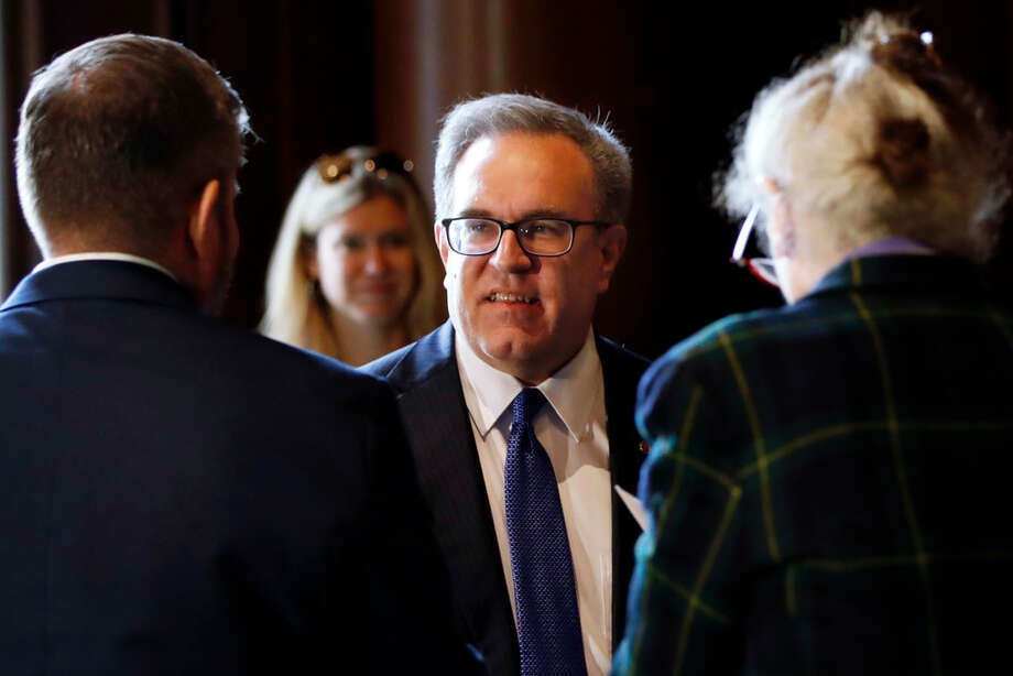Environmental Protection Agency (EPA) Acting Administrator Andrew Wheeler talks to EPA staffers, Wednesday, July 11, 2018, at EPA Headquarters in Washington. (AP Photo/Jacquelyn Martin) Photo: (AP Photo/Jacquelyn Martin)