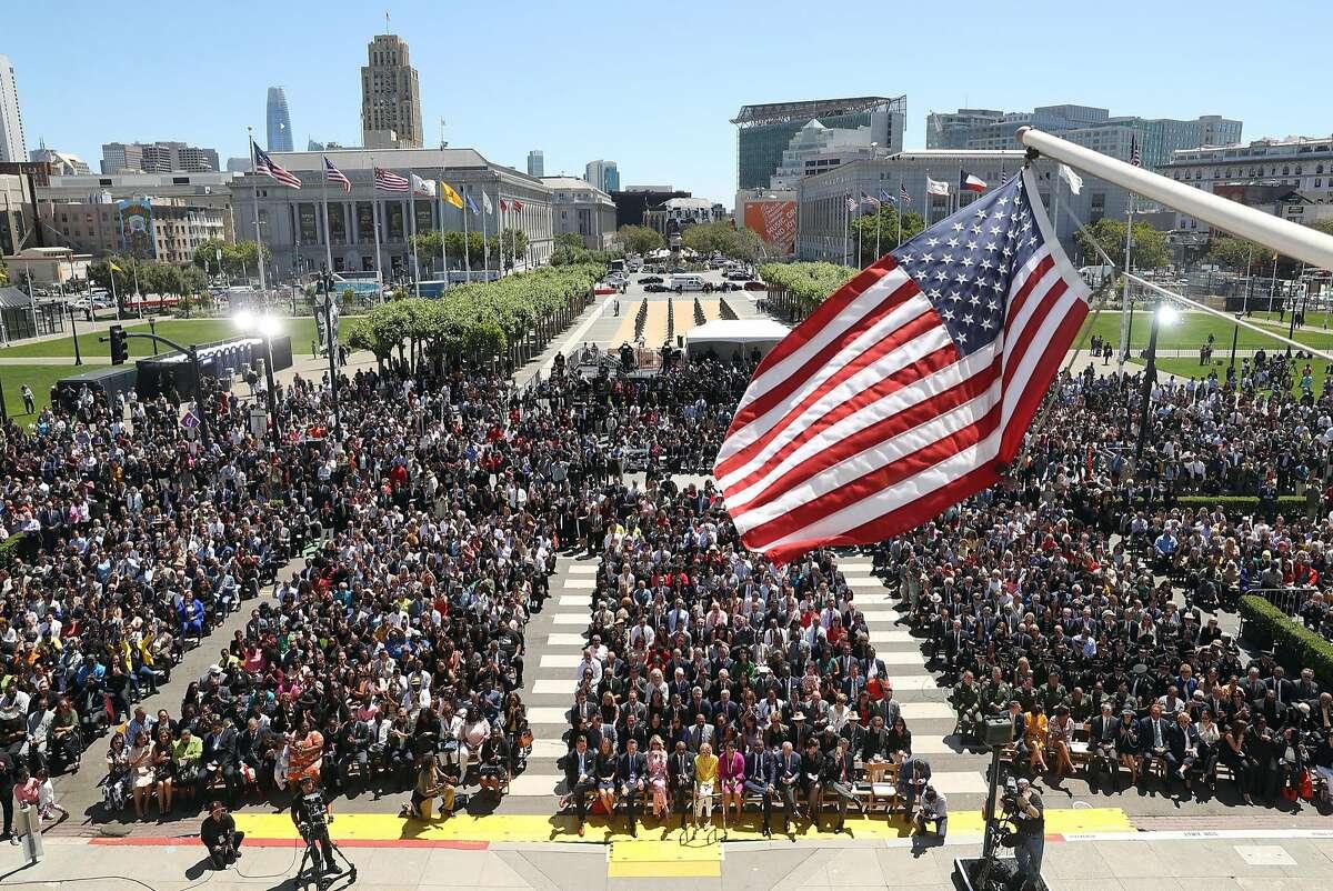 inauguration of San Francisco Mayor London Breed at City Hall in San Francisco, Calif. on Wednesday, July 11, 2018.