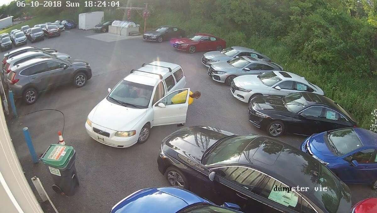 State Police are trying to identify the woman and man who were caught on surveillance camera taking four tires and rims from Simply Auto in Brunswick on June 10, 2018. Contact troopers at 518-279-4427 or Crimetip@troopers.ny.gov.