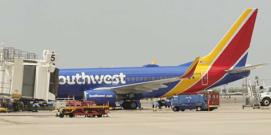 Southwest Airlines, seen 07/11/18 at MAF, will no longer serve peanuts on flights. Tim Fischer/Reporter-Telegram Photo: Tim Fischer/Midland Reporter-Telegram