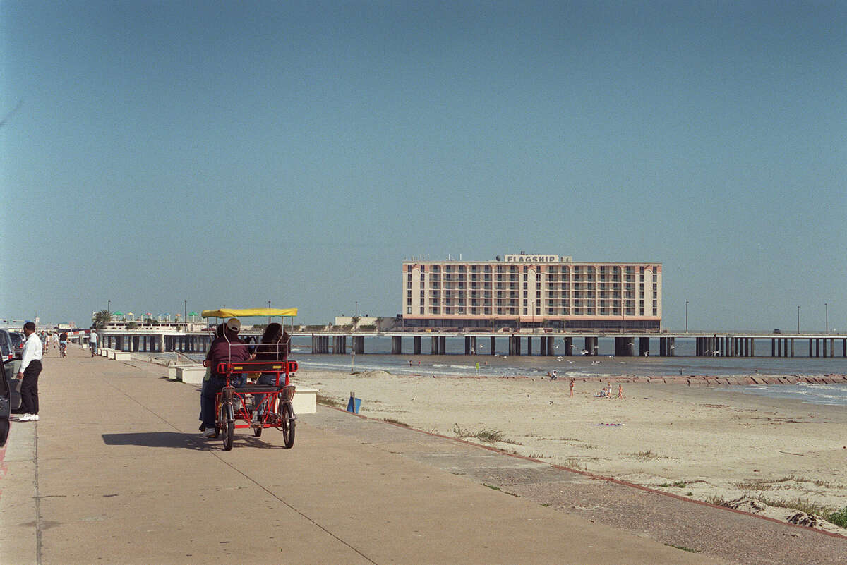 The Flagship Hotel in Feb. 2002. It is now the site of the Pleasure Pier along the Seawall.