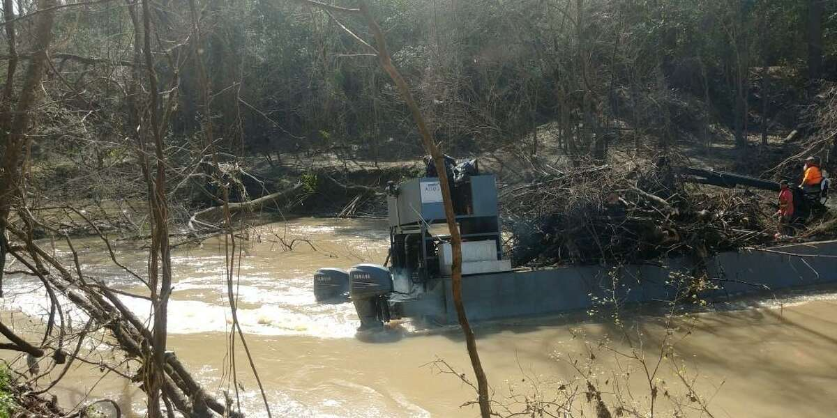 The Harris County Flood Control District has removed downed trees from nearly 25 miles of Buffalo Bayou from Highway 6 to Interstate 45.