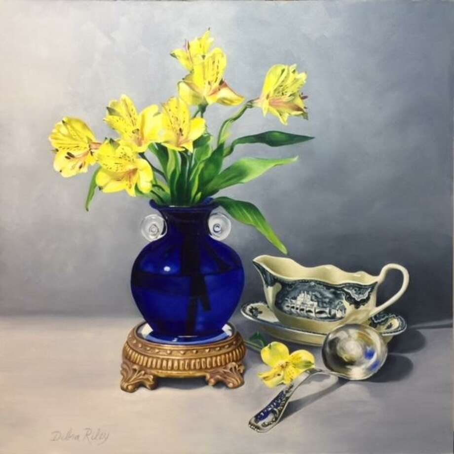 "A still-life painting by Debra Riley titled ""Symphony in Blue."" Photo: Courtesy Photo"