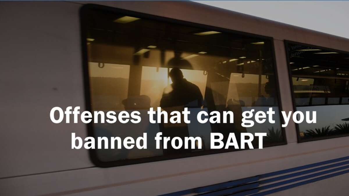 BART police issue prohibition orders, which may be given to any person who on at least three separate occasions within 90 consecutive days, is cited for an infraction committed in or on a transit system. Here are some behaviors that could lead to BART bans.