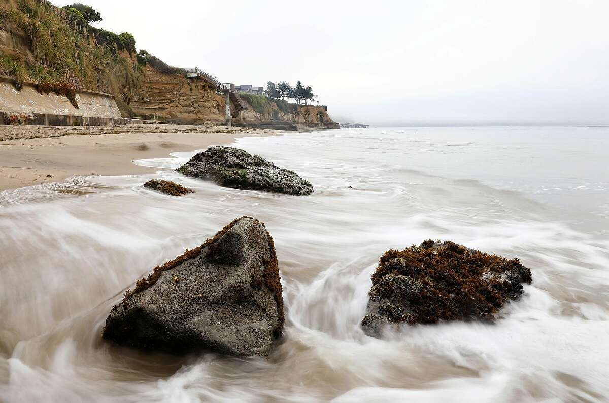 Opal Cliffs, also known as Privates Beach, in Santa Cruz is photographed on Tuesday, May 8, 2018. The Coastal Commission is starting to use environmental justice as a reason to fight back on projects, gates, and developments along California's 1,100 mile coastline. (Christina House/Los Angeles Times/TNS)