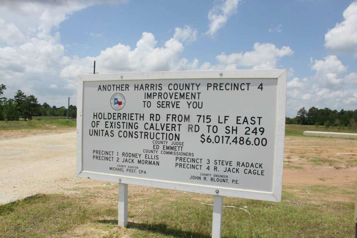 Harris County Precinct 4 is in the process of building an westward extension of Holderrieth Road from Texas 249 to Calvert Road.