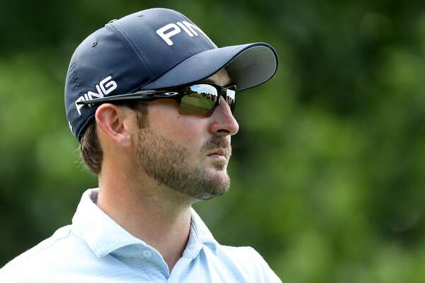 POTOMAC, MD - JUNE 28:  Andrew Landry looks on after hitting off the 16th tee during the first round of the Quicken Loans National at TPC Potomac on June 28, 2018 in Potomac, Maryland.  (Photo by Rob Carr/Getty Images)