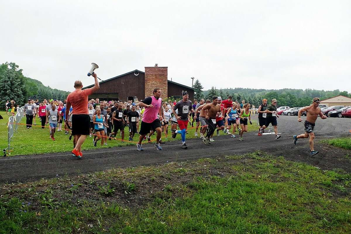 """Runners braved a mud, trail and obstacle course during last year's """"Run The Ridge"""" at Maple Ski Ridge to benefit Special Olympics New York. (Submitted photo)"""