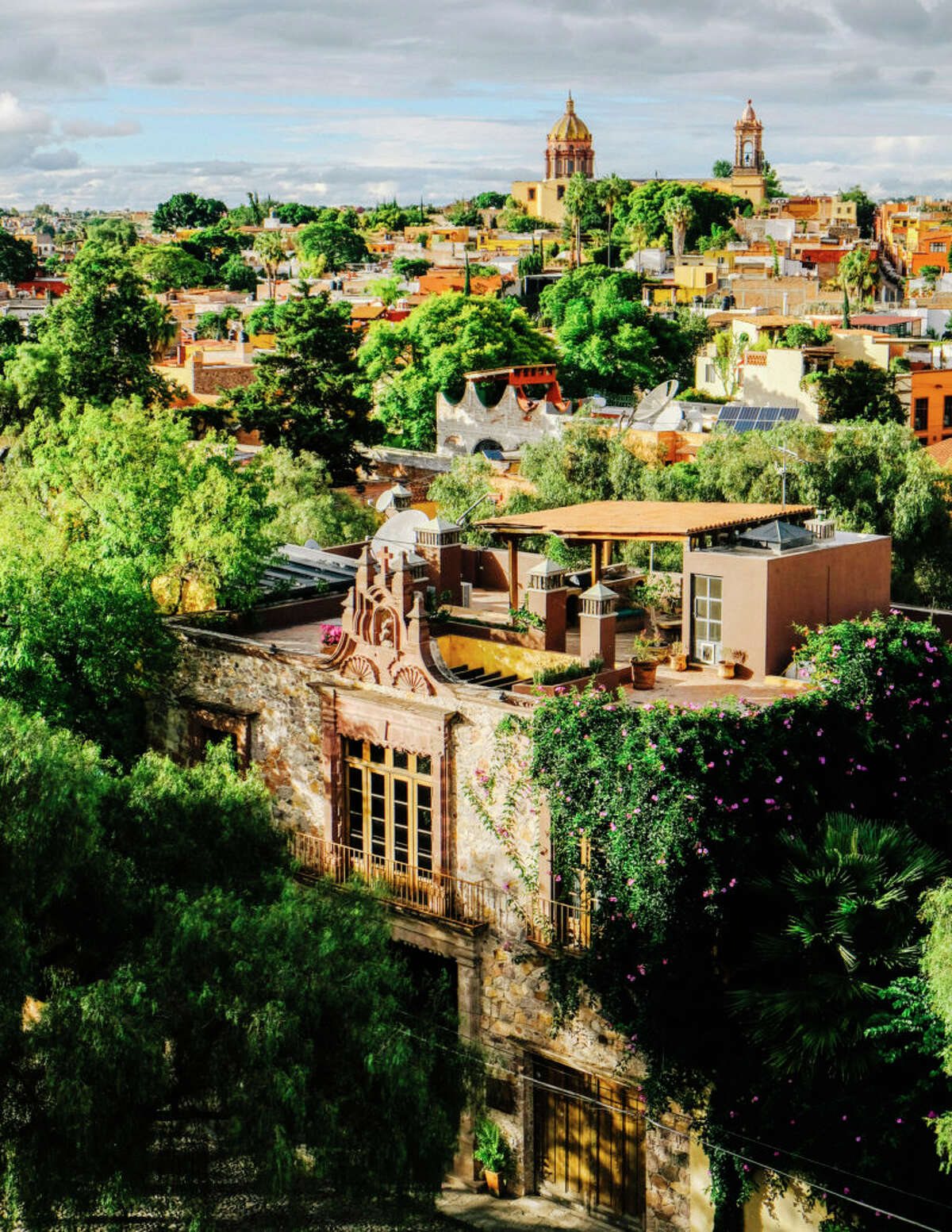 San Miguel de Allende (near Leon, Mexico) Nearly every turn in this UNESCO World Heritage Site is like a shot out of a postcard. San Miguel de Allende's charming cobblestone roads below brightly colored colonial architecture will leave design lovers enamored. Begin at La Parroquia de San Miguel Arcangel, a neo-Gothic 17th-century church with details reminiscent of Spanish architect Antoni Gaudí. Tequila lovers should not miss the opportunity to enjoy both stunning architecture and cocktails at the Casa Dragones Tasting Room. Here, design team Meyer Davis and interior designer Gloria Cortina created an intimate sensory experience with obsidian-tiled walls that reflect Mexican craftsmanship and connection to the region's terroir. For shopping, enjoy the beauty of local artisan craftwork at La Calaca. At night, watch the city twinkle below from Rosewood's well-loved rooftop tapas bar, Luna.