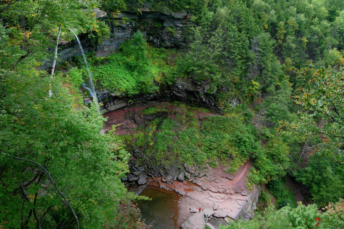 A view of Kaaterskill Falls on Wednesday, Sept. 13, 2017, in Hunter, N.Y. (Paul Buckowski / Times Union)