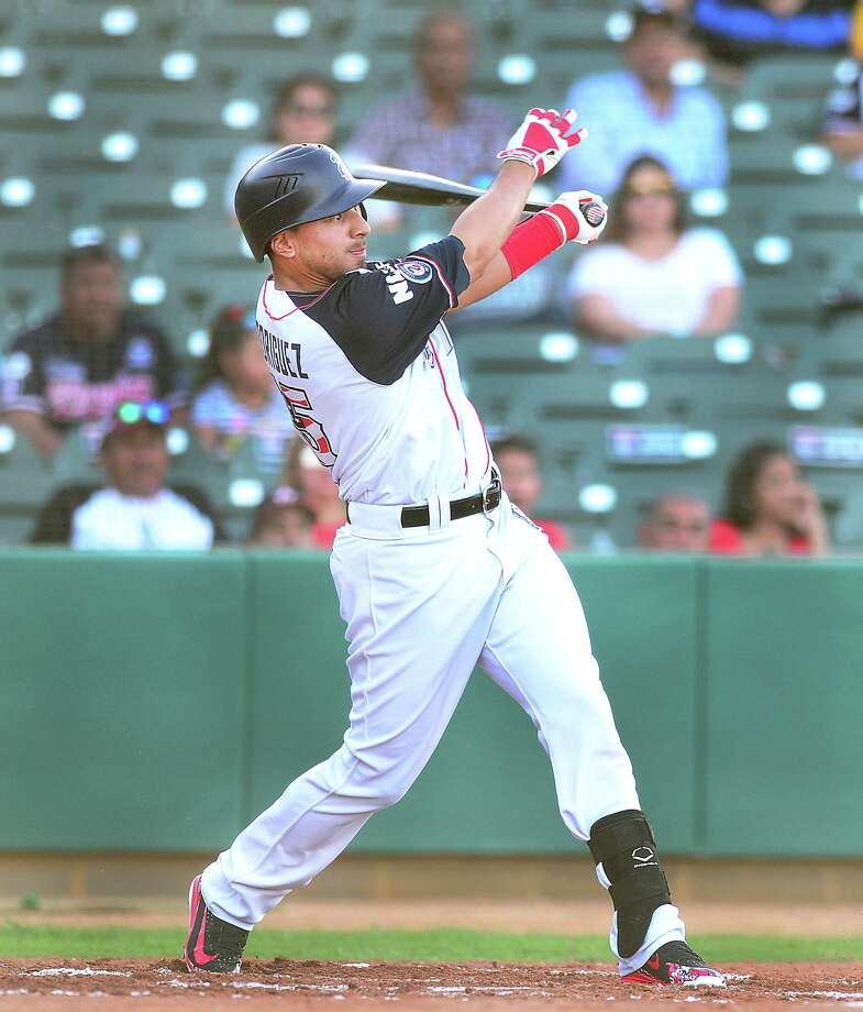 Josh Rodriguez and the Tecolotes Dos Laredos opened their first homestand of the second LMB season with a 4-2 victory over first-place Diablos Rojos del Mexico. Photo: Cuate Santos /Laredo Morning Times / Laredo Morning Times