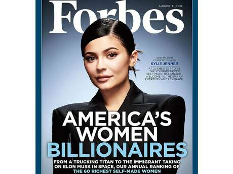 "Kylie Jenner is on the cover of Forbes' ""America's Women Billionaires"" issue, with the magazine reporting that Jenner is the 27th-richest self-made woman in the United States. Photo: Forbes Magazine"