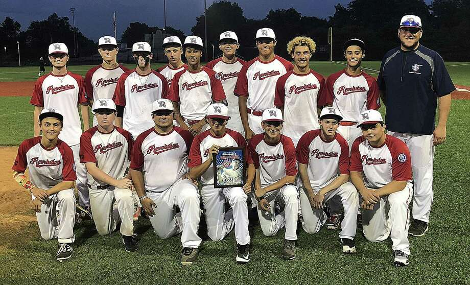 The Norwalk Revolution Babe Ruth 18-year-old All-Stars repeated as state champions this summer, coming out of hte loser's bracket to win two games over Housatonic Valley. Norwalk defeated HV 8-7 on Tuesday and 5-4 on Wednesday to claim the title. Photo: John Nash / Hearst Connecticut Media