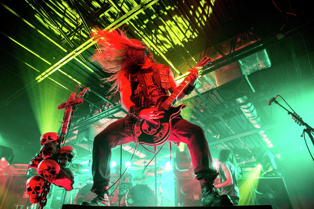Black Label Society's Zakk Wylde performs at Upstate Concert Hall in Clifton Park, N.Y., on Jan. 7, 2018. ( Trudi Shaffer Hargis / Times Union )