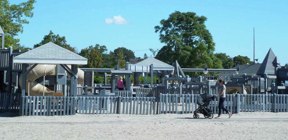 The playground area at Compo Beach. Photo: Anne M. Amato / Anne M. Amato / westport news