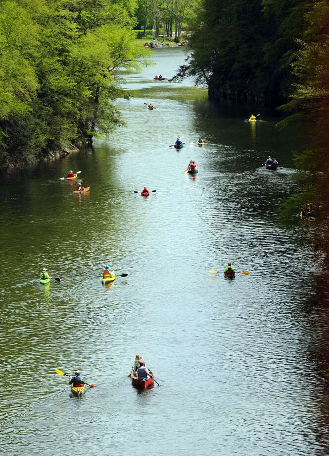 File photo of canoes and kayaks on the Housatonic River in New Milford Photo: Carol Kaliff / ST / The News-Times