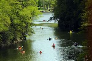 File photo of canoes and kayaks on the Housatonic River in New Milford