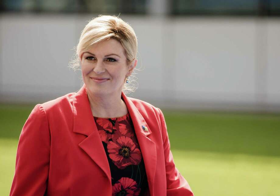 Croatian President Kolinda Grabar Kitarovic arrives at the NATO summit in Brussels on July 11, 2018. Photo: Bloomberg Photo By Marlene Awaad. / © 2018 Bloomberg Finance LP