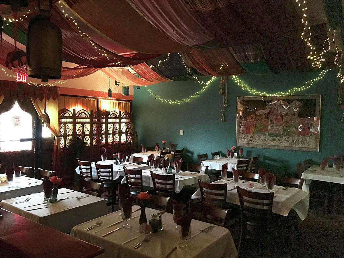 The back dining room and special events area at India Oven