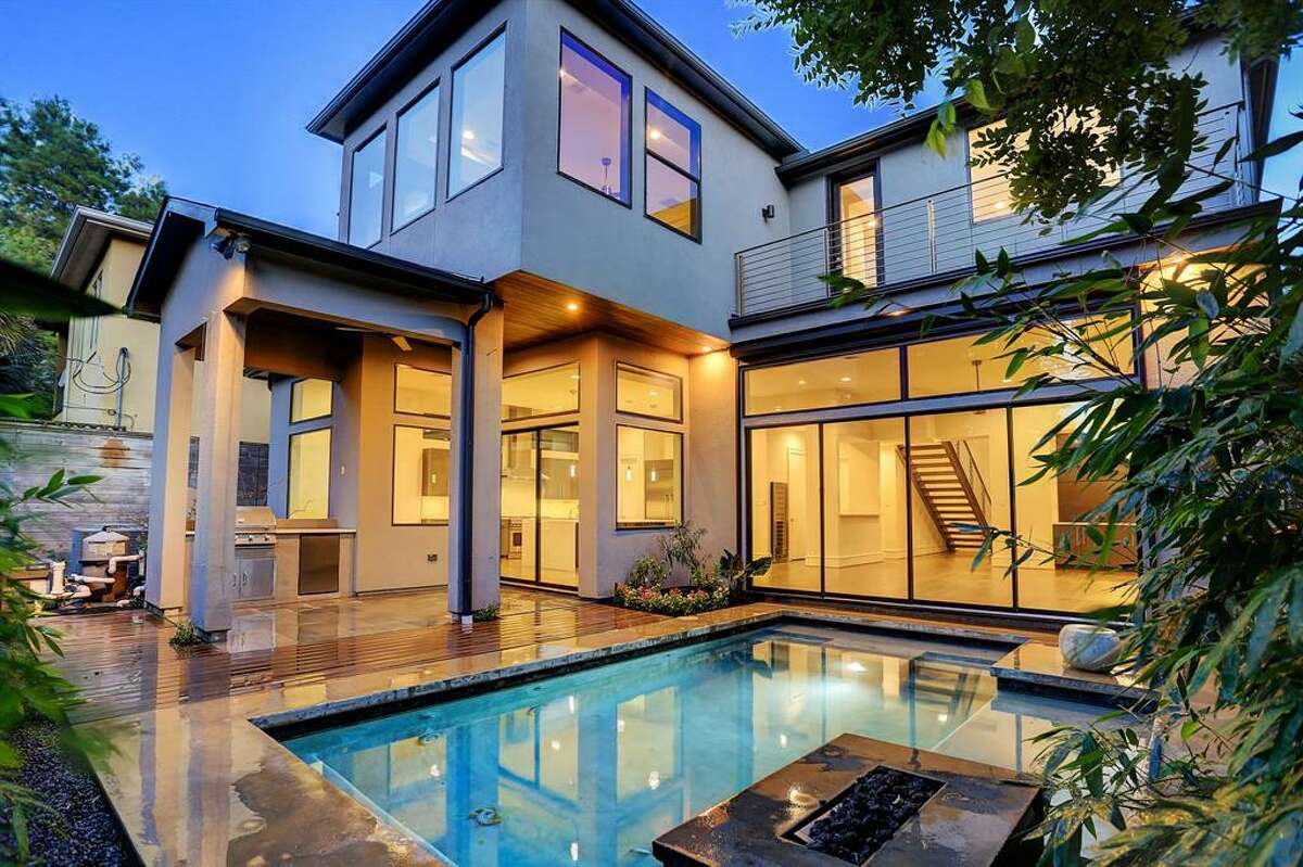 The contemporary homeat 2230 Branard in Upper Kirby was built in 2014 and is on sale for $1.6 million.