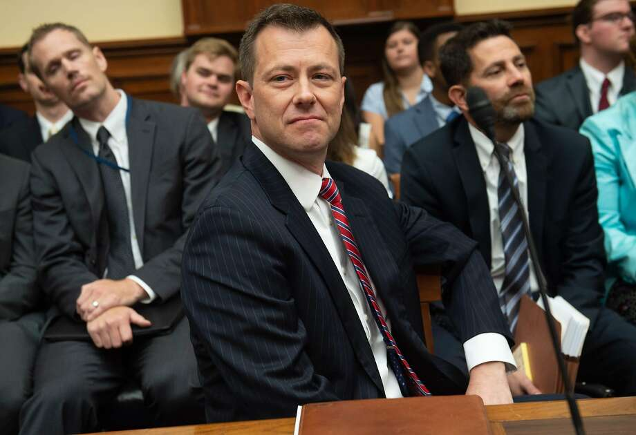 FBI agent Peter Strzok rejected Republican accusations that he let his private political views bias his official actions. Photo: Saul Loeb / AFP / Getty Images